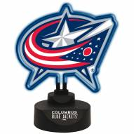 Columbus Blue Jackets Team Logo Neon Light