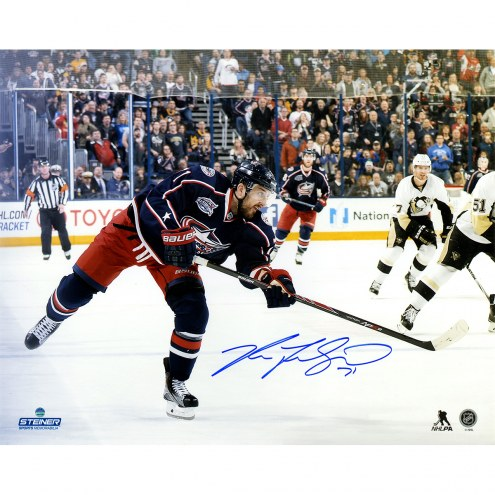 "Columbus Blue Jackets Nick Foligno Shooting Signed 16"" x 20"" Photo"