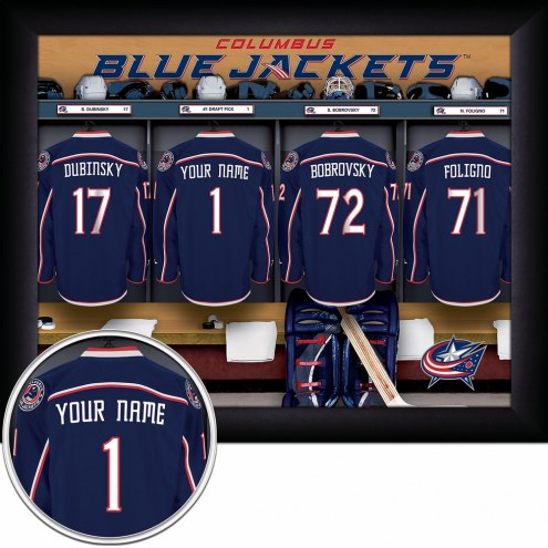 Columbus Blue Jackets Personalized 11 x 14 Framed Photograph