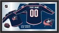 Columbus Blue Jackets Personalized Jersey Mirror