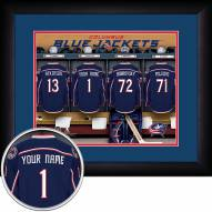 Columbus Blue Jackets Personalized Locker Room 13 x 16 Framed Photograph