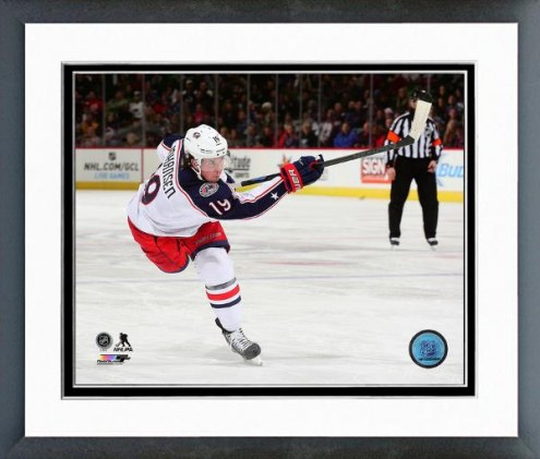 Columbus Blue Jackets Ryan Johansen Action Framed Photo