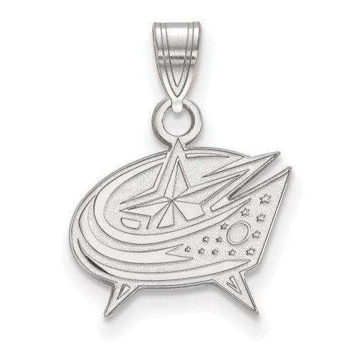 Columbus Blue Jackets Sterling Silver Small Pendant