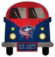 Columbus Blue Jackets Team Bus Sign