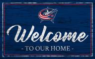 Columbus Blue Jackets Team Color Welcome Sign