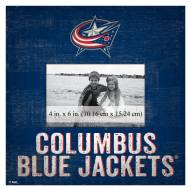 """Columbus Blue Jackets Team Name 10"""" x 10"""" Picture Frame"""