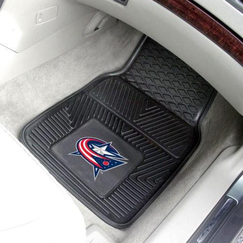 Columbus Blue Jackets Vinyl 2-Piece Car Floor Mats