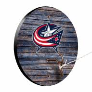 Columbus Blue Jackets Weathered Design Hook & Ring Game