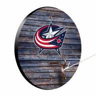 Columbus Blue Jackets Weathered Design Hook & Ring Game
