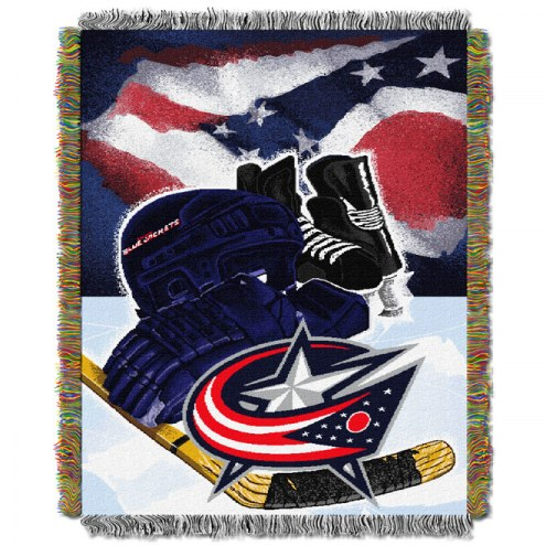 Columbus Blue Jackets Woven Tapestry Throw Blanket
