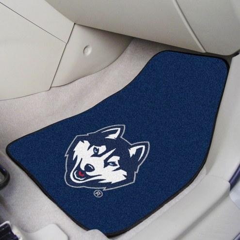 Connecticut Huskies 2-Piece Carpet Car Mats