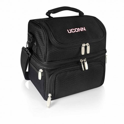 Connecticut Huskies Black Pranzo Insulated Lunch Box