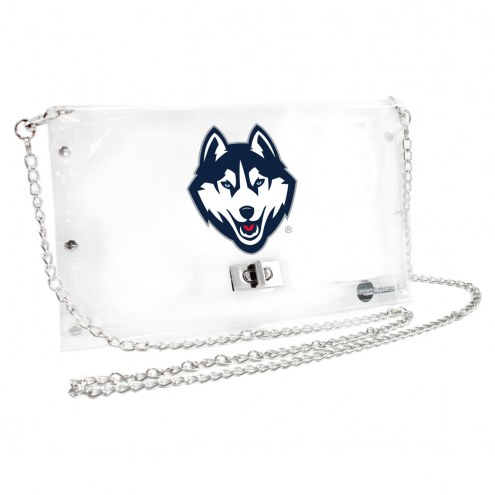 Connecticut Huskies Clear Envelope Purse