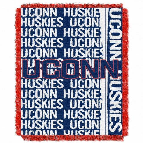 Connecticut Huskies Double Play Woven Throw Blanket