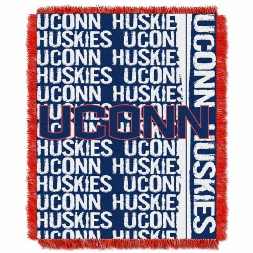 Connecticut Huskies Double Play Woven Throw Blanket