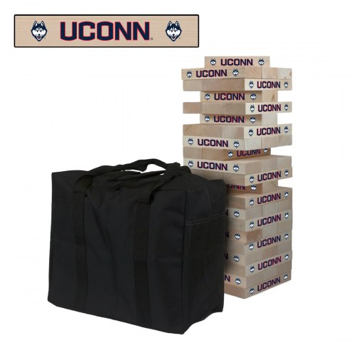 Connecticut Huskies Giant Wooden Tumble Tower Game