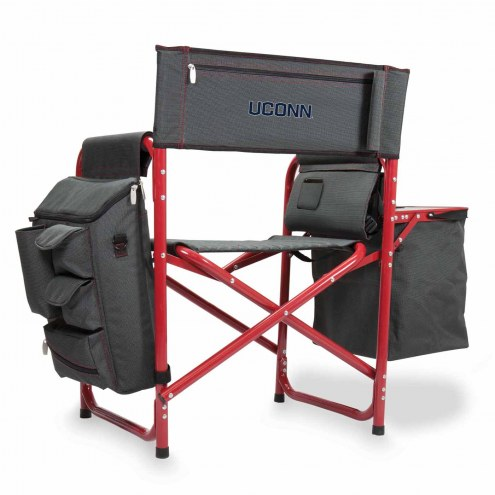 Connecticut Huskies Gray/Red Fusion Folding Chair