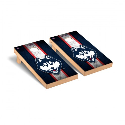 Connecticut Huskies Grunge Cornhole Game Set