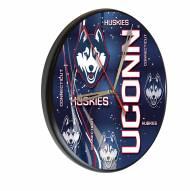 Connecticut Huskies Digitally Printed Wood Clock