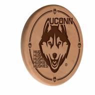 Connecticut Huskies Laser Engraved Wood Sign