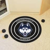 Connecticut Huskies Hockey Puck Mat