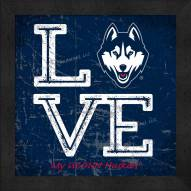 Connecticut Huskies Love My Team Color Wall Decor