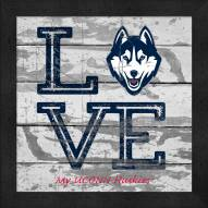 Connecticut Huskies Love My Team Square Wall Decor