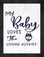 Connecticut Huskies My Baby Loves Framed Print