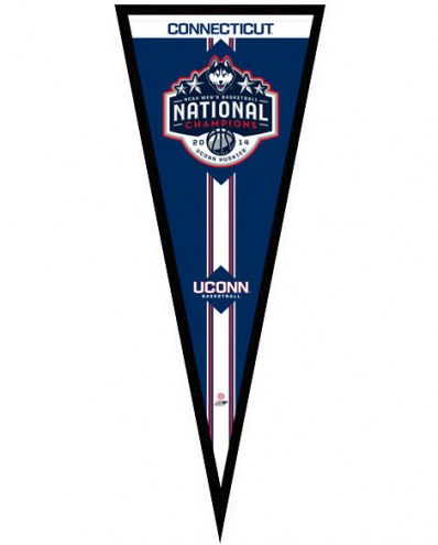 Connecticut Huskies NCAA Champions Framed Pennant
