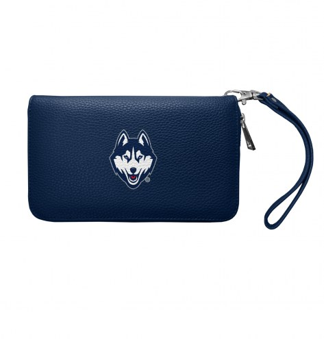 Connecticut Huskies Pebble Organizer Wallet