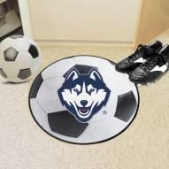Connecticut Huskies Soccer Ball Mat