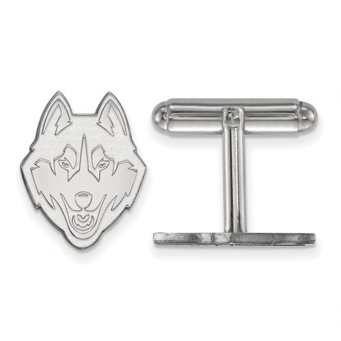 Connecticut Huskies Sterling Silver Cuff Links