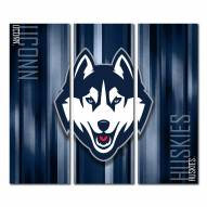 Connecticut Huskies Triptych Rush Canvas Wall Art