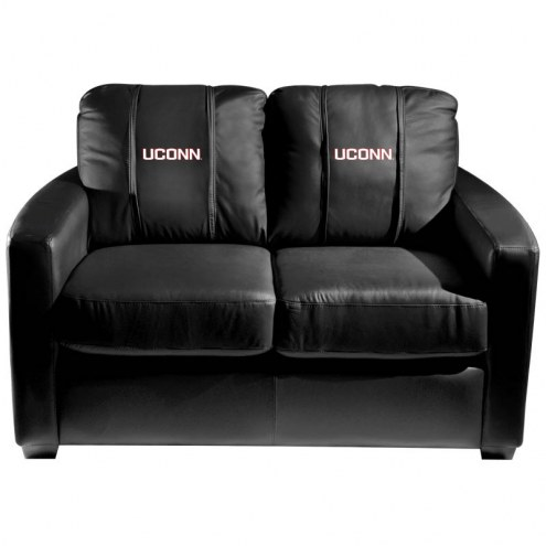 Connecticut Huskies XZipit Silver Loveseat with UConn Logo