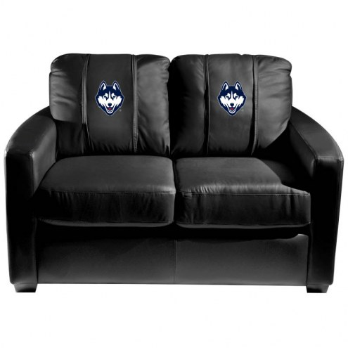 Connecticut Huskies XZipit Silver Loveseat