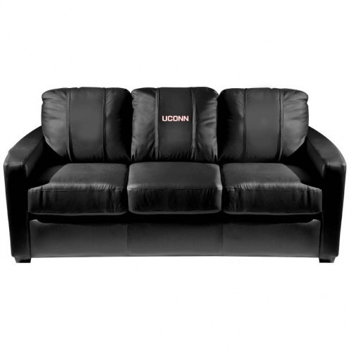 Connecticut Huskies XZipit Silver Sofa with UConn Logo