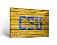 Coppin State Eagles Weathered Canvas Wall Art
