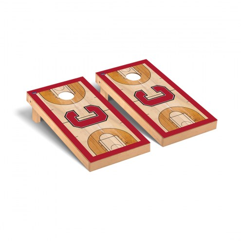 Cornell Big Red Basketball Court Cornhole Game Set
