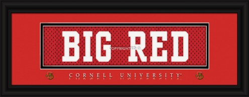 """Cornell Big Red """"Big Red"""" Stitched Jersey Framed Print"""