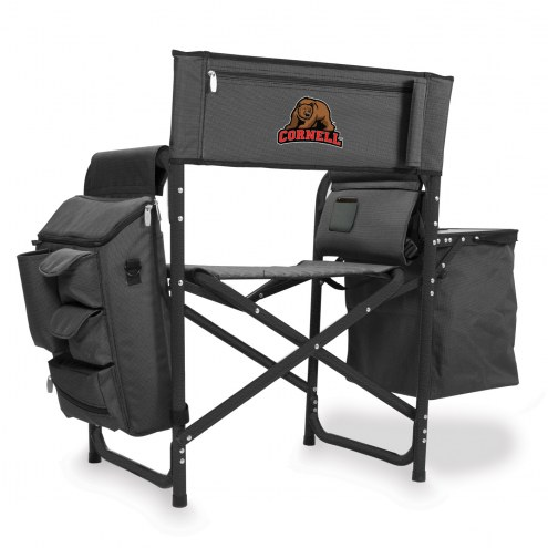 Cornell Big Red Gray/Black Fusion Folding Chair