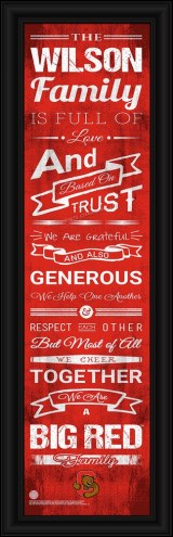 Cornell Big Red Personalized Family Cheer Framed Art
