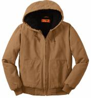 CornerStone Washed Duck Cloth Men's Insulated Hooded Custom Work Jacket