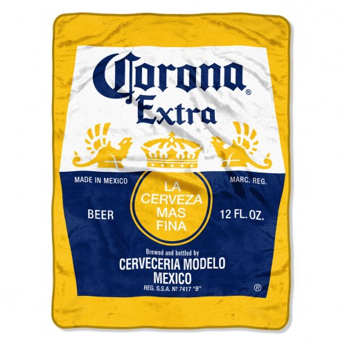 Corona Bottle Micro Raschel Throw Blanket