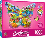 Countours Butterfly 1000 Piece Shaped Puzzle