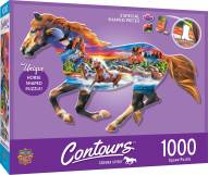 Countours Running Horse 1000 Piece Shaped Puzzle