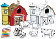 Country Farm Buildable Cardboard Creations Play Set