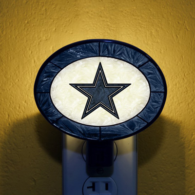 Dallas Cowboys NFL Stained Glass Night Light