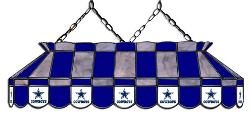 """Dallas Cowboys NFL Team 40"""" Rectangular Stained Glass Shade"""