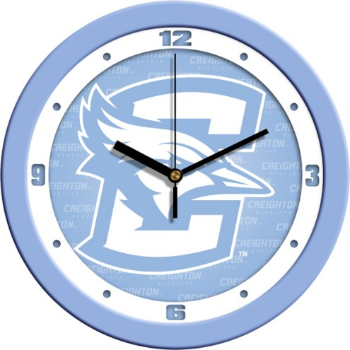 Creighton Bluejays Baby Blue Wall Clock