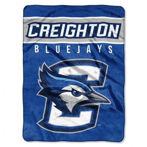 Creighton Bluejays Basic Plush Raschel Blanket